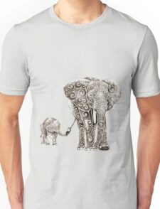 Swirly Elephant Family Unisex T-Shirt