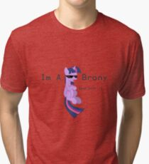I'm a Brony Deal with it. (Twilight Sparkle) - My little Pony Friendship is Magic Tri-blend T-Shirt
