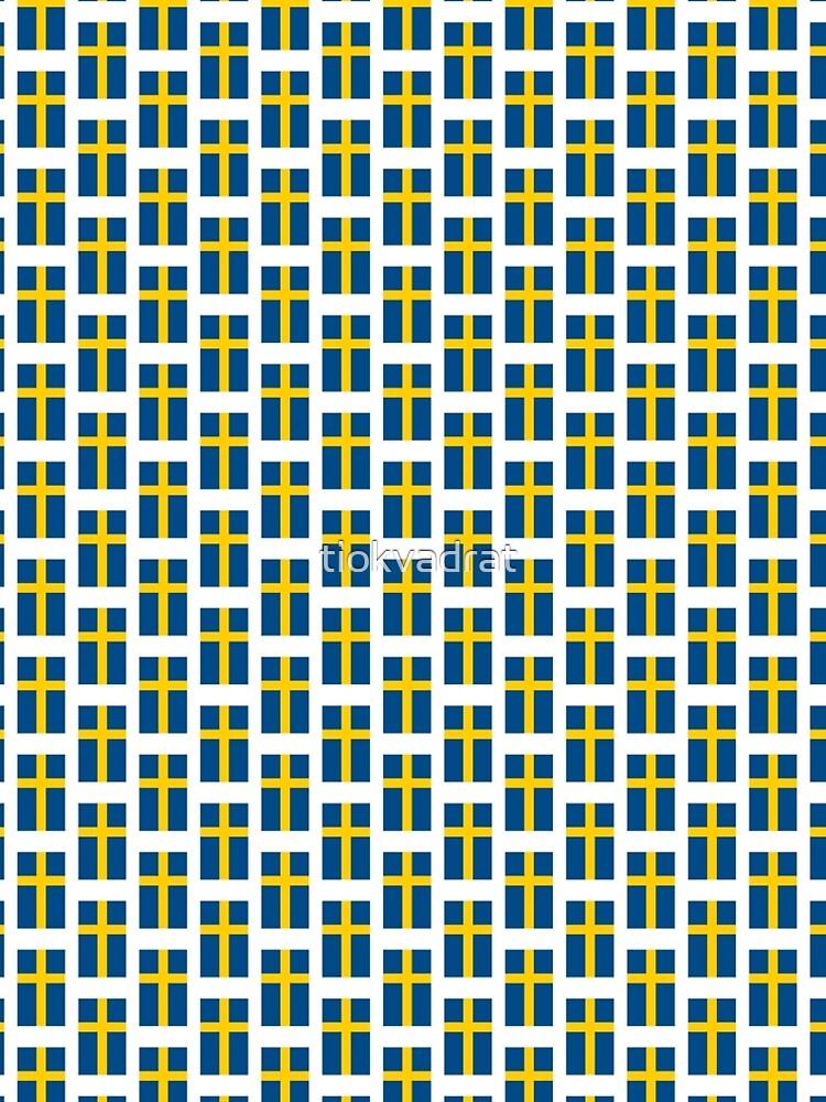 Sveriges Flagga (Official Swedish Flag, Sweden) in its Proper Colors by tiokvadrat