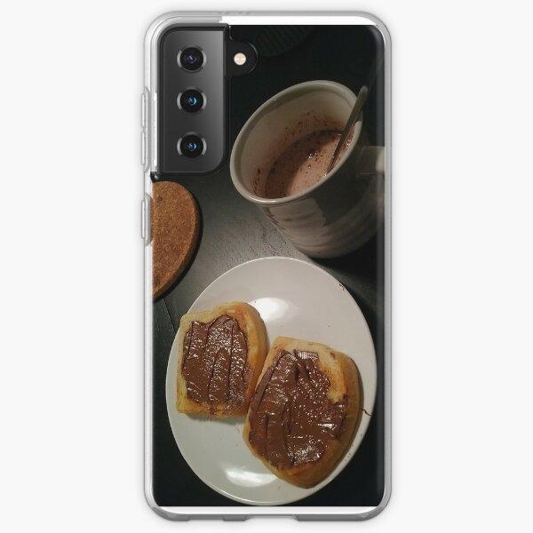 nutella + hot chocolate Samsung Galaxy Soft Case
