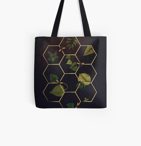 Bees in Space  All Over Print Tote Bag