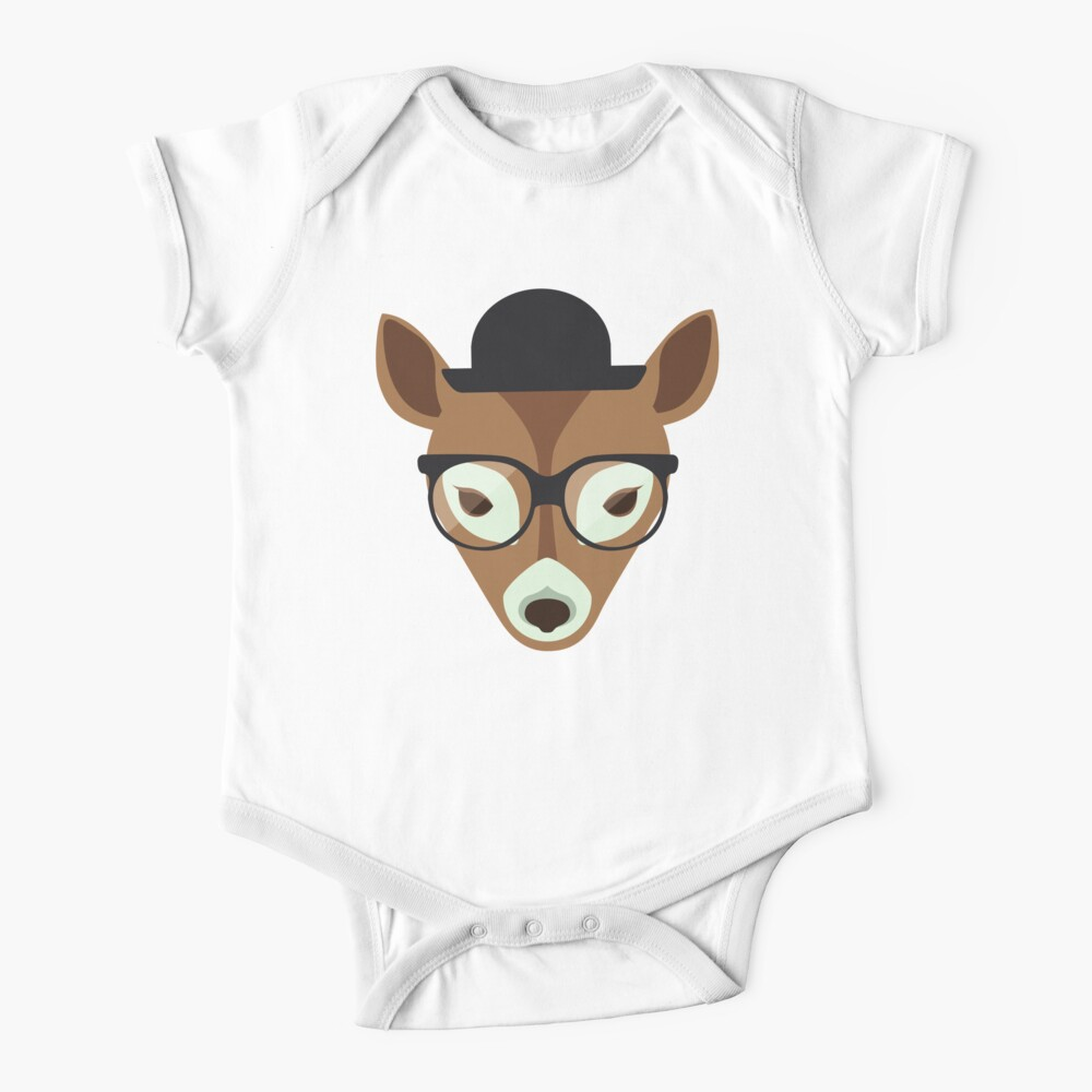 Hipster deer Baby One-Piece