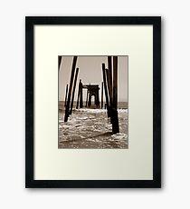 Down the center in Sepa Framed Print