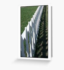 Picket Fence Greeting Card
