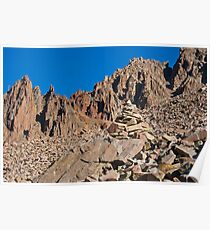 Mount Sneffels Spires and a Helping Rock Pile Poster