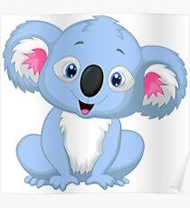 Cute Baby Koala Smiling Poster