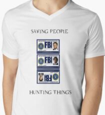 Supernatural Badge Men's V-Neck T-Shirt