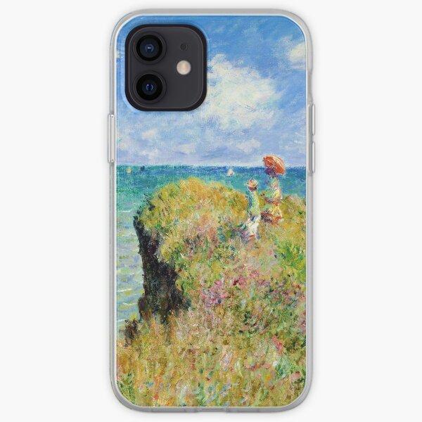 Claude Monet - Walk on the Cliff at Pourville iPhone Soft Case