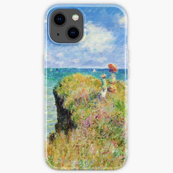 Claude Monet - Spaziergang auf der Klippe bei Pourville iPhone Flexible Hülle