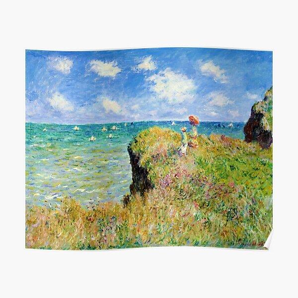 Claude Monet - Promenade sur la falaise à Pourville Poster