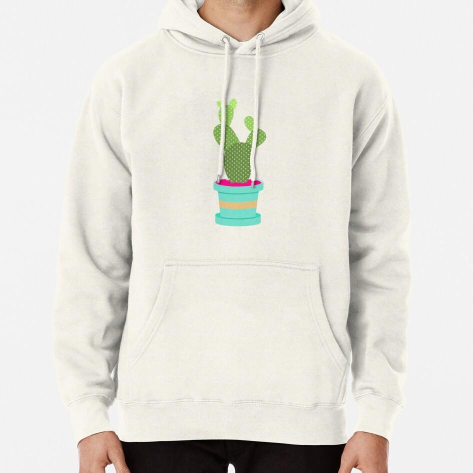 Friendly Cactus Pullover Hoodie