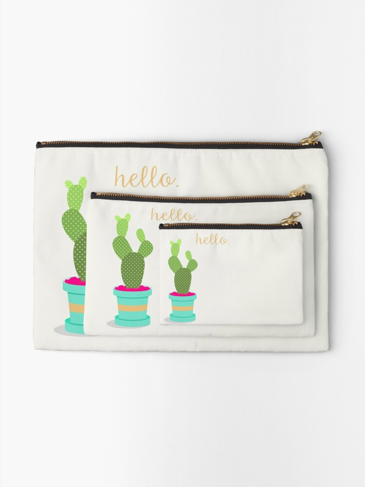Alternate view of Friendly Cactus Zipper Pouch
