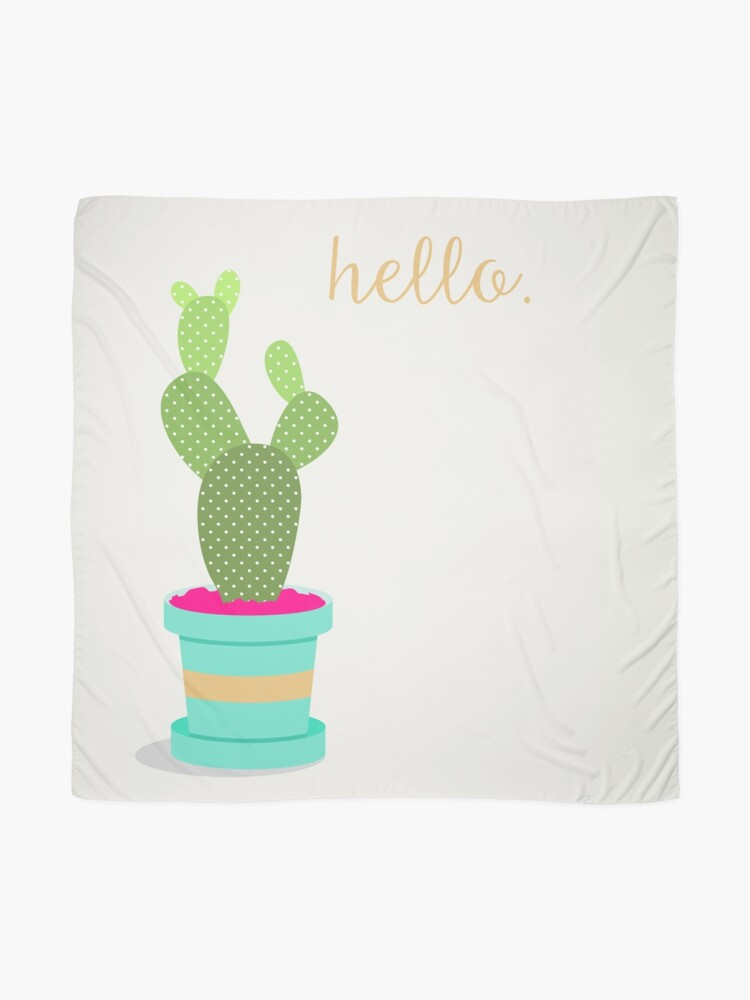Alternate view of Friendly Cactus Scarf