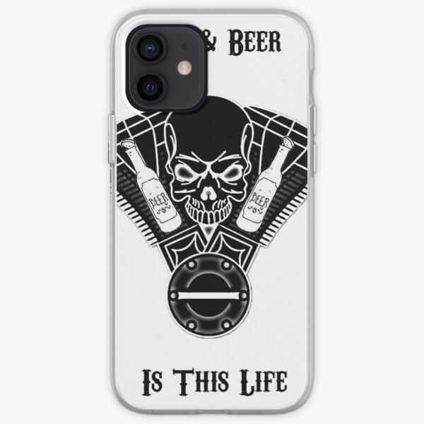 Bike & Beer Blanc Coque souple iPhone