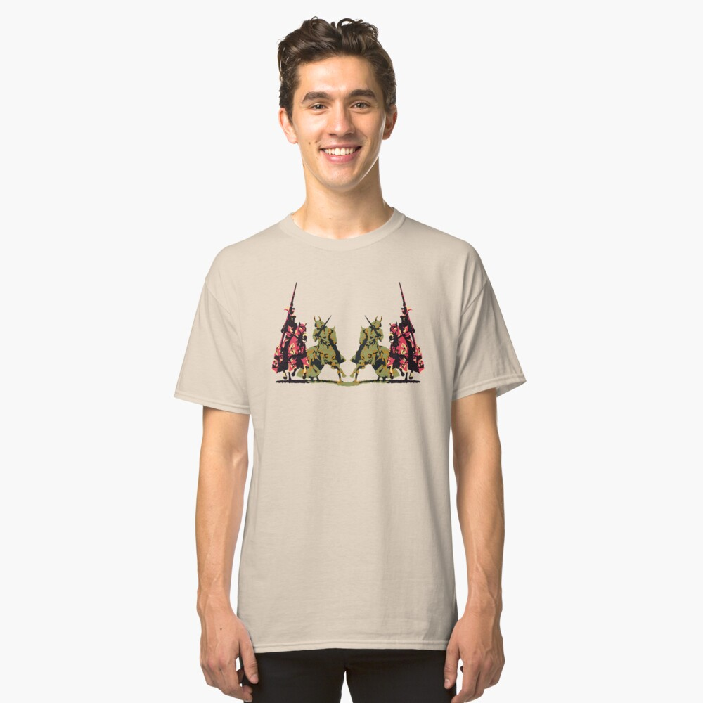 four noble knights on horseback with lance and sword Classic T-Shirt