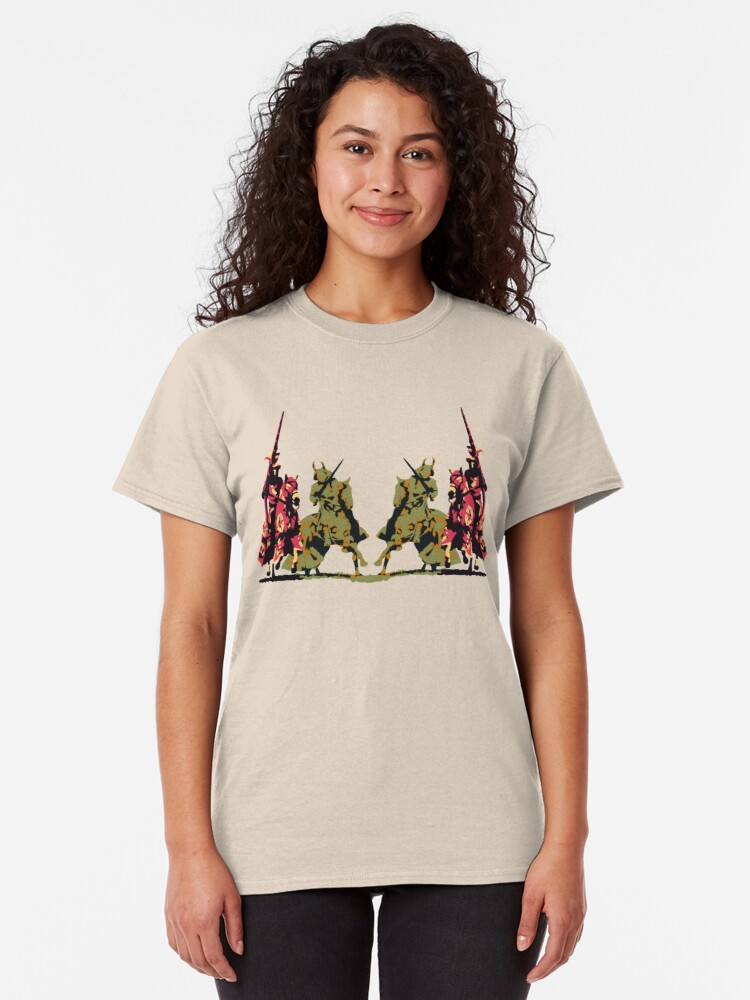 Alternate view of four noble knights on horseback with lance and sword Classic T-Shirt