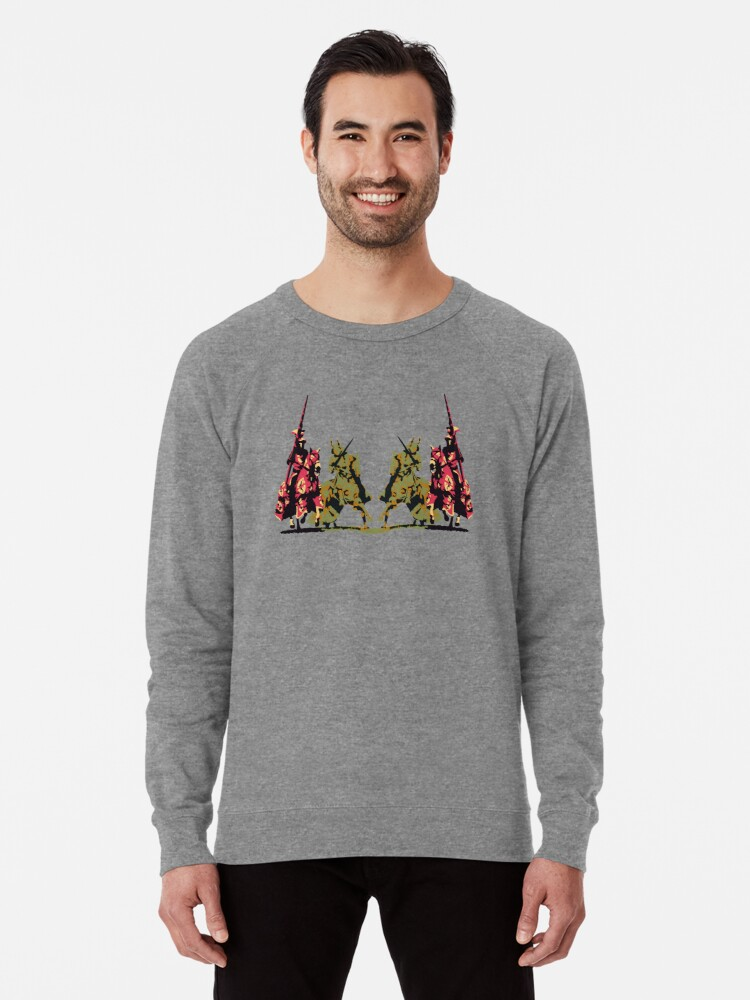 Alternate view of four noble knights on horseback with lance and sword Lightweight Sweatshirt