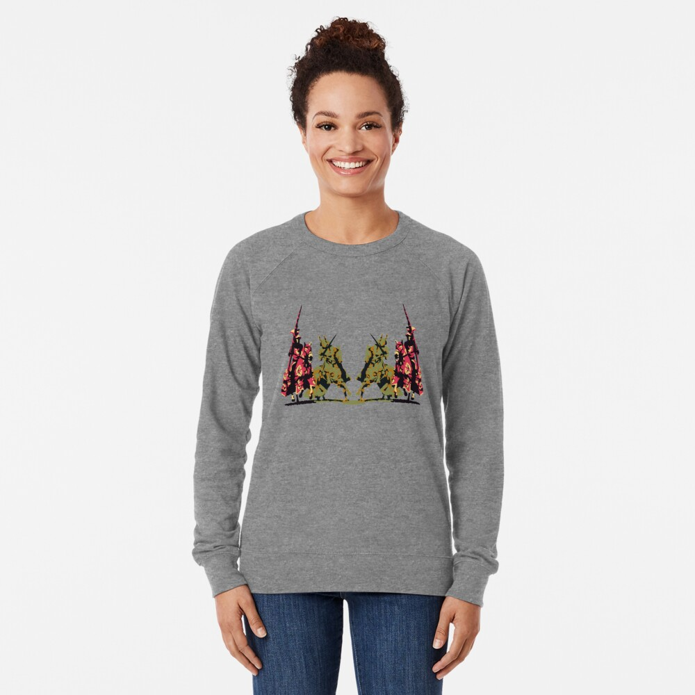 four noble knights on horseback with lance and sword Lightweight Sweatshirt