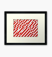 White and Red bow Framed Print
