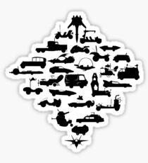 Oldschool Transportation Sticker