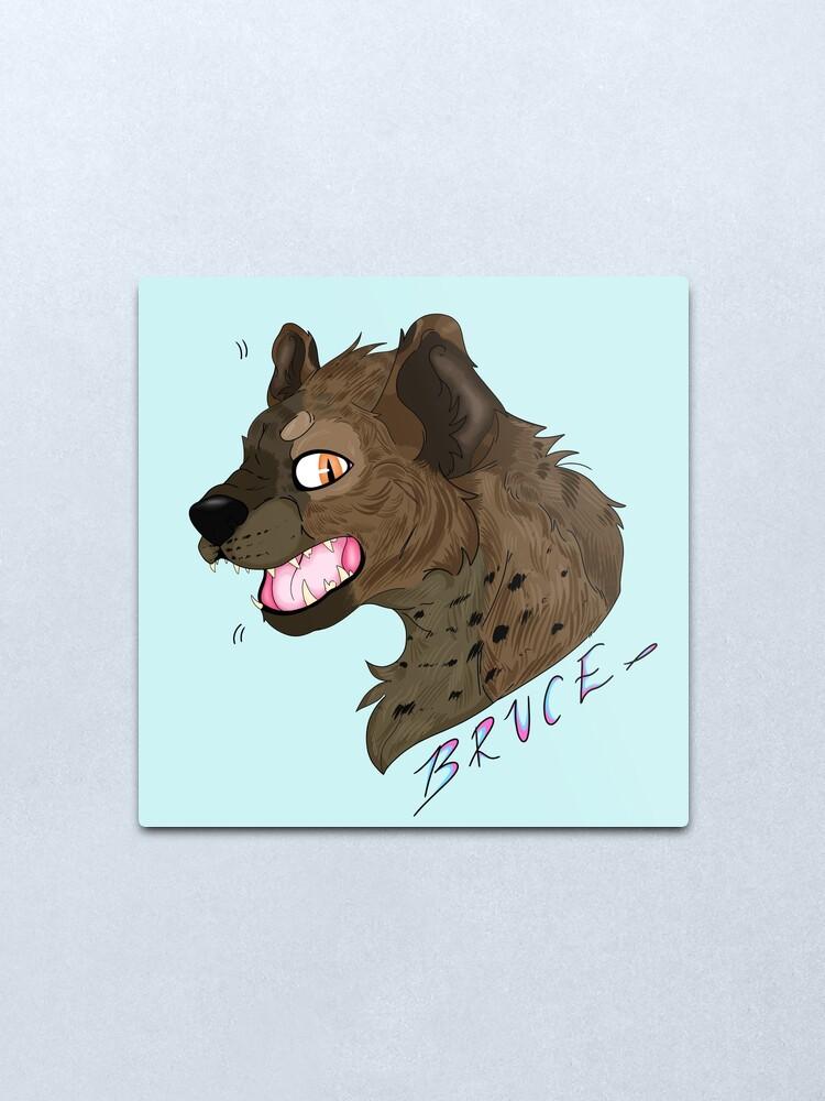 Bruce The Hyena Birds Of Prey Metal Print By Galaxytheartist Redbubble