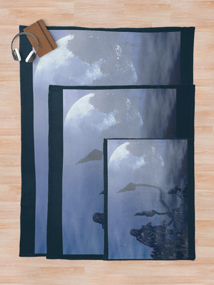 Alternate view of dark creatures in the night Throw Blanket