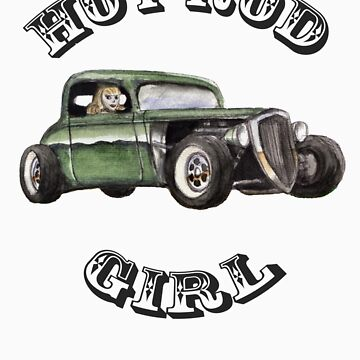 Hot Rod Girl Tee by leetwigger