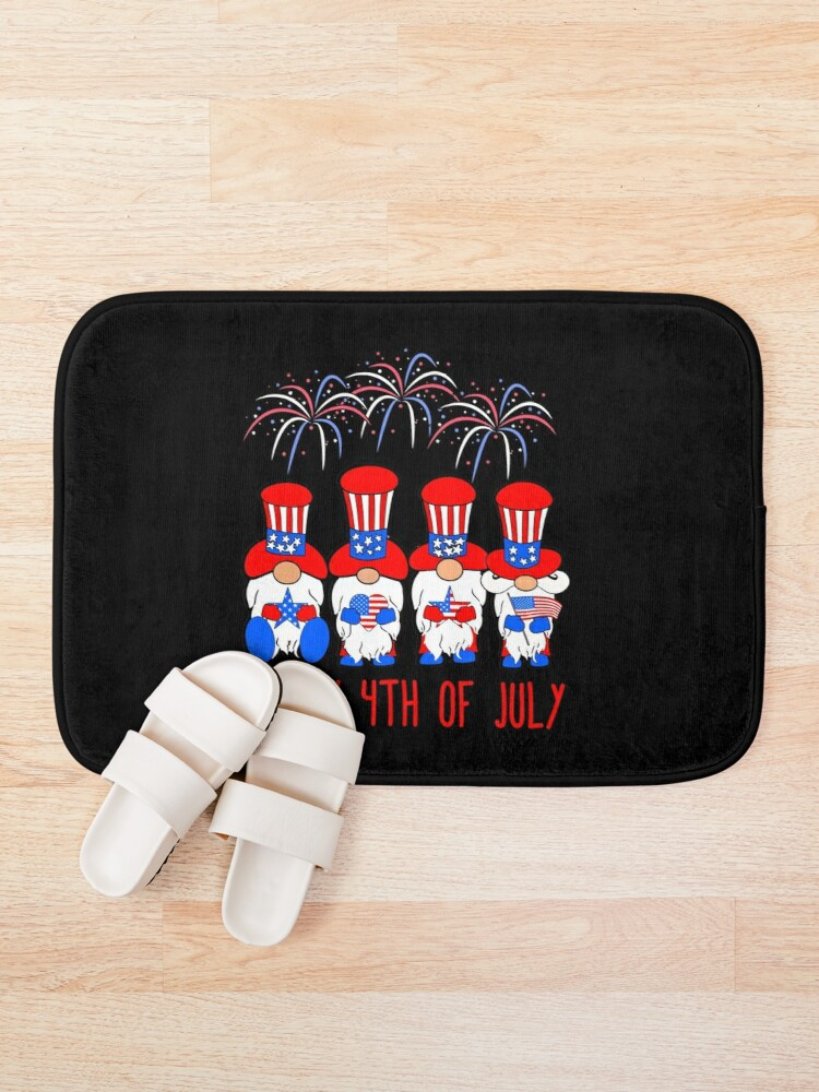 Alternate view of Patriotic Gnomes America Happy 4th of July Bath Mat