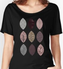 Nature Inspired Leaves  Women's Relaxed Fit T-Shirt