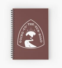 Going-to-the-Sun Road Sign Spiral Notebook