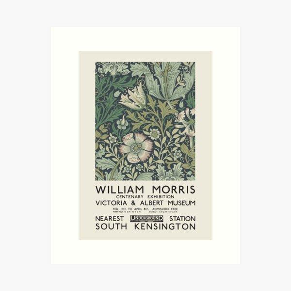 William Morris - Cartel de exposición para el Museo Victoria and Albert, Londres, 1934 Lámina artística