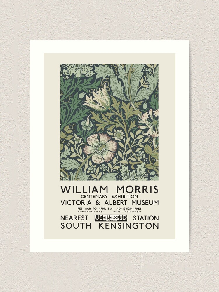 Alternate view of William Morris - Exhibition poster for The Victoria and Albert Museum, London, 1934 Art Print