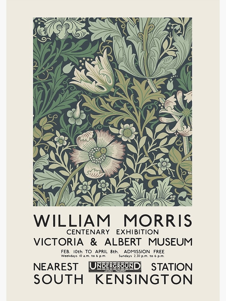 William Morris - Exhibition poster for The Victoria and Albert Museum, London, 1934 by GOST2046