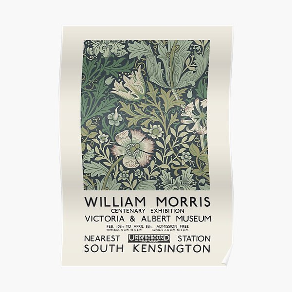 William Morris - Ausstellungsplakat für das Victoria and Albert Museum, London, 1934 Poster