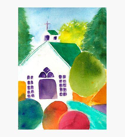 Chapel at Roche Harbor Photographic Print