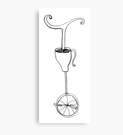 cup of whimsy tea Canvas Print