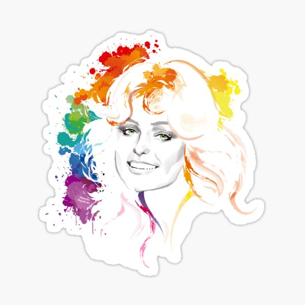 Rainbow Farrah Sticker