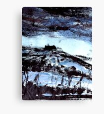 blue tinged snow.... winter scene Canvas Print