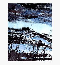 blue tinged snow.... winter scene Photographic Print