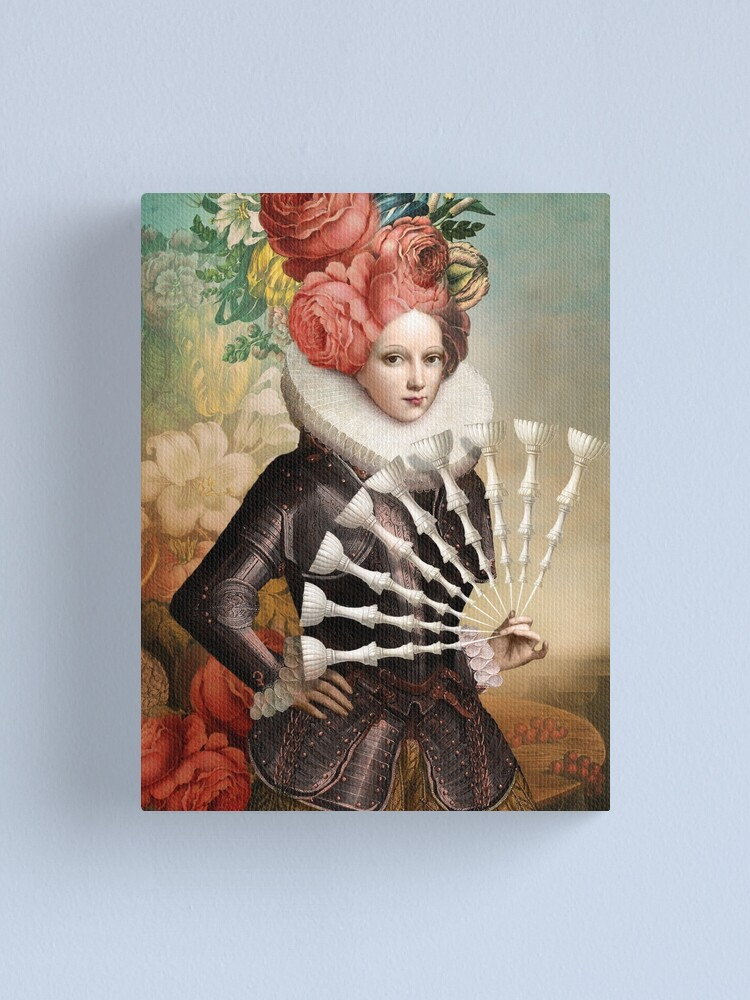 Alternate view of  Digital collage Canvas Print