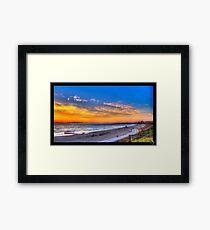 Sunset in Redondo Beach 2 Framed Print