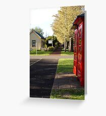 Telephone boxes at Ross Greeting Card
