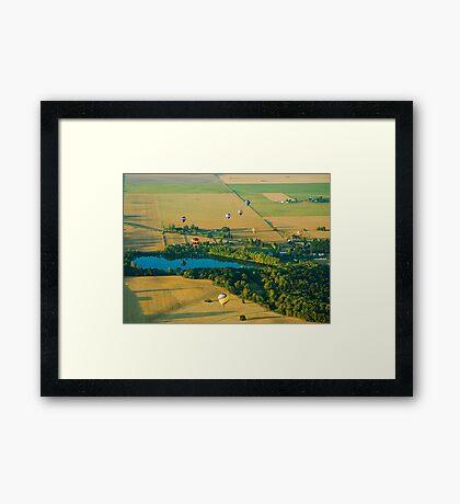 Hot Air Reflection Framed Print