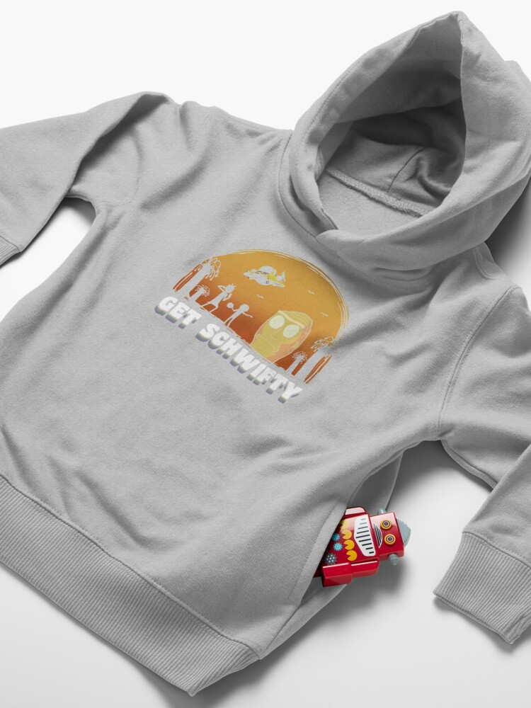 Alternate view of Rick and Morty Get Schwifty Vintage Toddler Pullover Hoodie