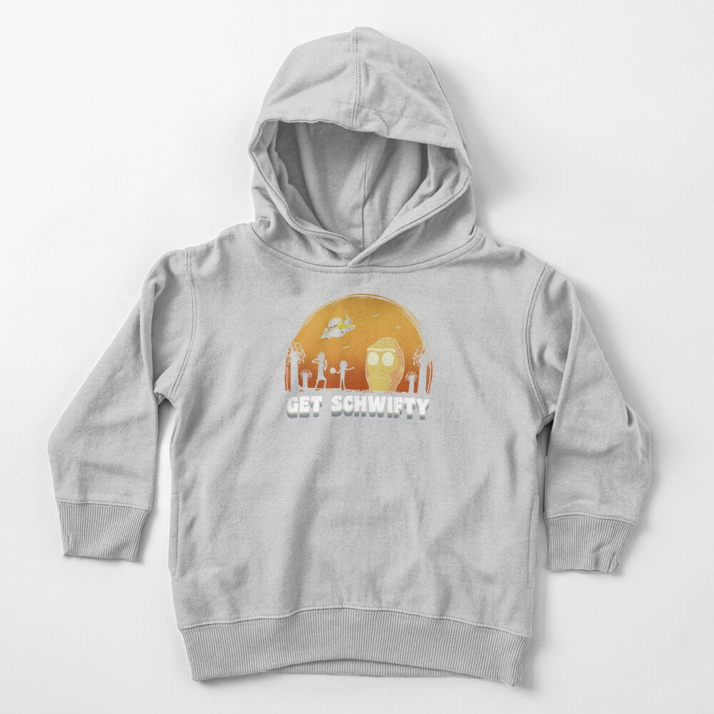 Rick and Morty Get Schwifty Vintage Toddler Pullover Hoodie