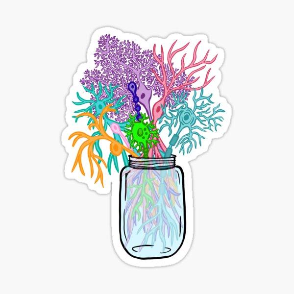 Neural Bouquet - Neuroscience Sticker