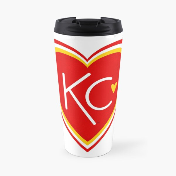 KC Love Red & Yellow Travel Mug