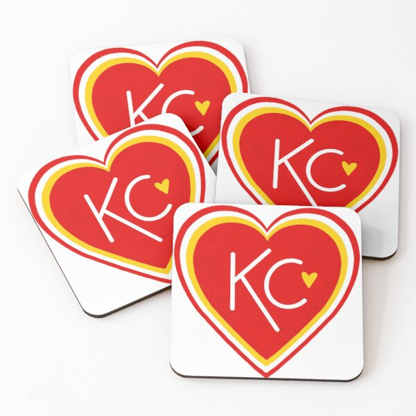 KC Love Red & Yellow Coasters (Set of 4)
