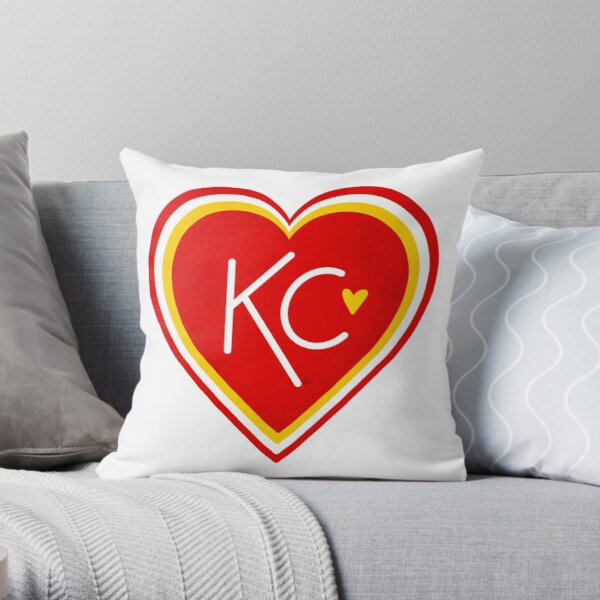 KC Love Red & Yellow Throw Pillow