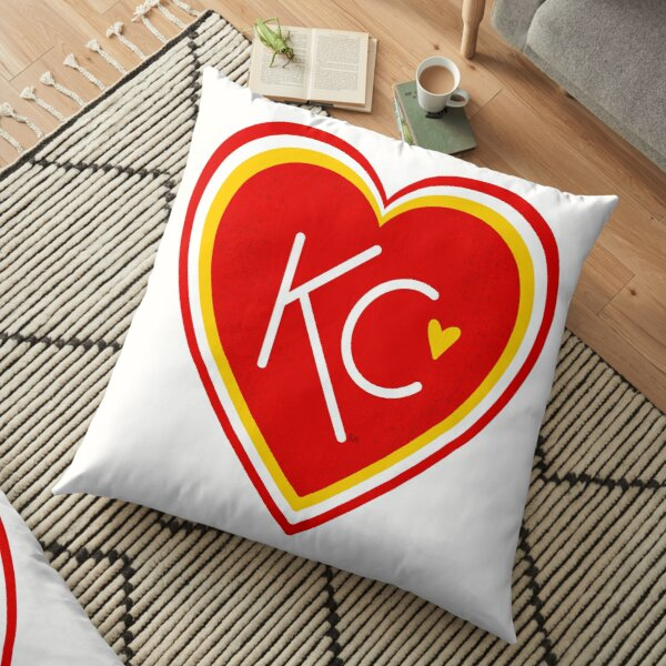 KC Love Red & Yellow Floor Pillow